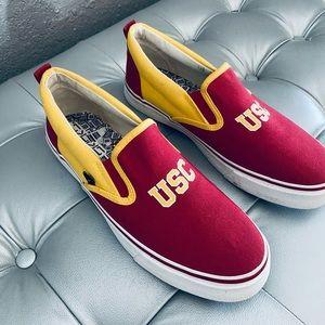 USC Trojans Slip on Vans - Nearly New! - M7 / W9